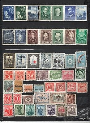 Austria - Lot Of Early Unused Stamps(AUS17}