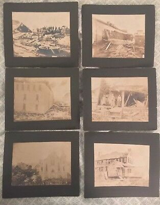 Antique Photos Natural Disaster Tornado Aftermath Sheboygan Wisconsin 1900 Rare