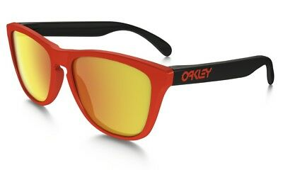 22bb2600d2d42 New Authentic Oakley Frogskins Sunglasses. Heritage Red   Fire Iridium