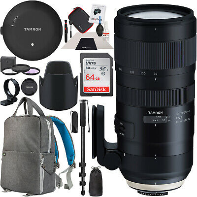Tamron SP 70-200mm F/2.8 Di VC USD G2 Nikon F Lens + TAP-In Console Pro Bundle