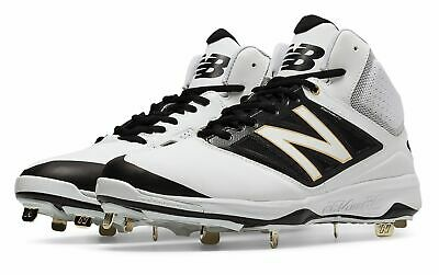 7343c372f2a6 New Balance Mid-Cut 4040V3 Metal Baseball Cleat Mens Shoes White With Black  12 D