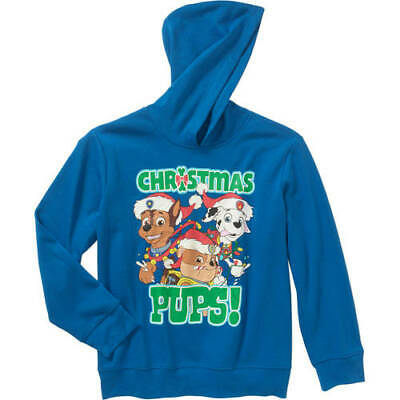 PAW Patrol Christmas Pawdy Boys Long Sleeve Pullover Graphic Hoodie Dog Pups