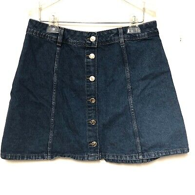 82e889ac3 H&M Divided Denim Jean Mini Skirt Sz 10 with full Button Front