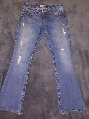 AEROPOSTALE LOW RISE HAILEY FLARE JEANS MISSES SIZE 0 L NWT