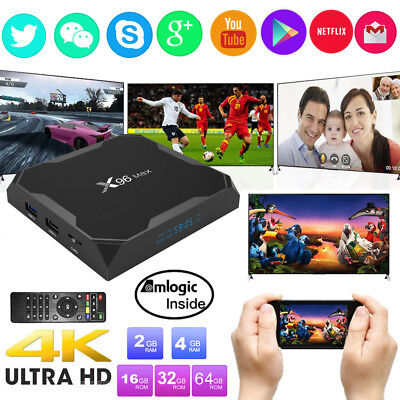 X96 Max 4GB+32GB Smart Amlogic S905X2 Quad Core TV Box Android 8.1 Dual WIFI SE✯