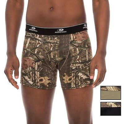 Mossy Oak Men's Boxer Briefs 3 Pack Small Camo Black Green Stretch Cotton New