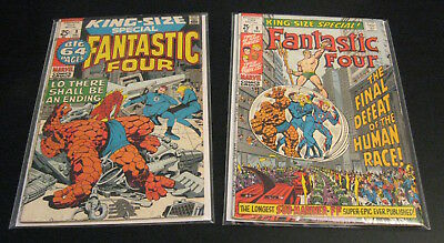 Lot of *2* FANTASTIC FOUR KING SIZE SPECIALS: #8 (1970) FN++, #9 (1971) FN+++