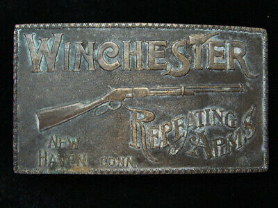 QD11130 VINTAGE 1970s **WINCHESTER REPEATING ARMS** GUN & FIREARM BELT BUCKLE