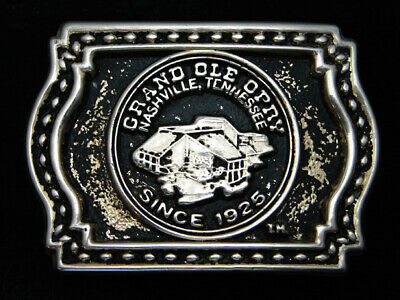 QK05109 VINTAGE 1970s **GRAND OLE OPRY** COMMEMORATIVE SOLID BRASS BELT BUCKLE