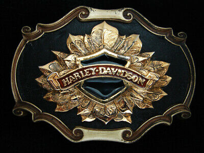 Qi11144 Vintage 1978 **Harley-Davidson** Motorcycles Commemorative Belt Buckle