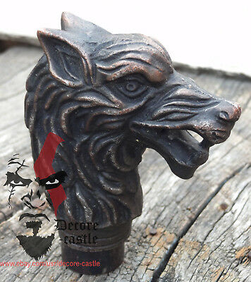 Antique Wolf Head Vintage wolf head only Handle Walking Stick gift item X-mas