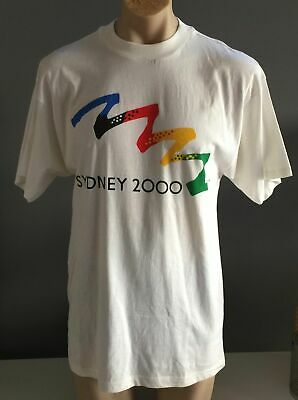 BONDS Mens Sydney 2000 Olympics White Short Sleeve Collectable T-Shirt Size S