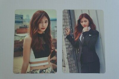 (Lot of 2) TWICE Fan Meeting ONCE BEGINS Official Photocard Tzuyu C Burgundy