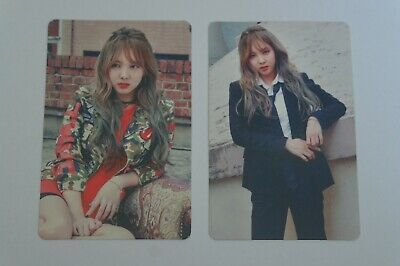 (Lot of 2) TWICE Fan Meeting ONCE BEGINS Official Photocard Nayeon C Burgundy