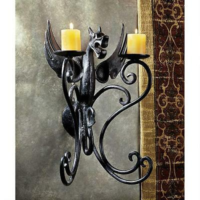18-centurty Gothic European Dragon Cast Iron Sconce Replica Reproduction