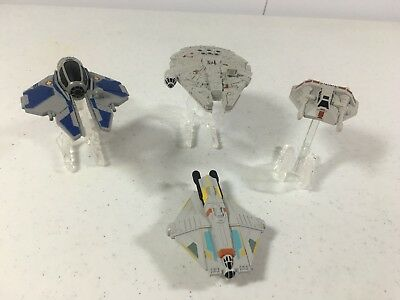 Star Wars Hot Wheels Ship Model Lot Millennium Falcon Snowspeeder