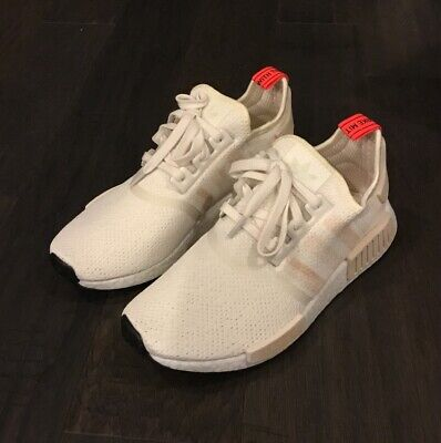 214367646f113 Women s Adidas NMD R1 W Runner Shoes Sneakers G27938 Size 6 White Linen