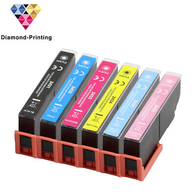 6 Ink Cartridges (Set+Bk) for Epson Expression Photo XP-55 XP-760 XP-860 XP-960
