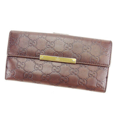 83f11859ea3d4d Gucci Wallet Purse Guccissima Brown Gold Woman unisex Authentic Used T3481