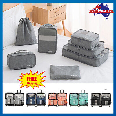 Waterproof Travel Suitcase Storage Clothes Packing Cube Luggage Organizer Pouch
