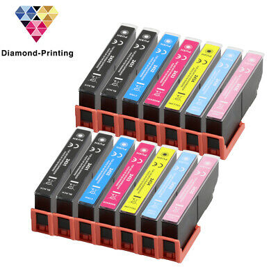 14 Ink Cartridges (Set+Bk) for Epson Expression Photo XP-55 XP-760 XP-860 XP-960