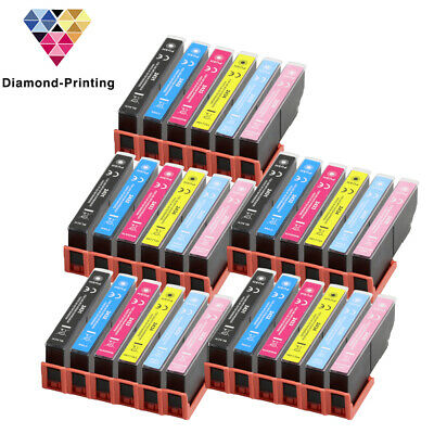 30 Ink Cartridges (Set+Bk) for Epson Expression Photo XP-55 XP-760 XP-860 XP-960