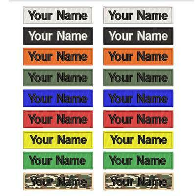 CUSTOM EMBROIDERY NAME Patch IRON ON, Personalized Military