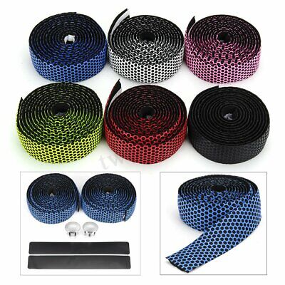 Handlebar Tape Bicycle Road Bike Flexible Rubber Handle Grip Bar Tape & Bar Plug