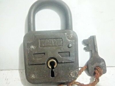 Antique Rare Large Padlock Kamp With Original Key(Damm & Ladwing Velbert)Germany