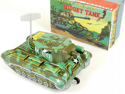 Alps Midget Tank M-60 US Army Battery Tin Toy Panzer Japan MIB OVP SG 1409-03-87