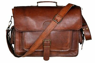 Bag Men's Vintage Brown Leather S Messenger Bag Genuine Leather Shoulder Bag