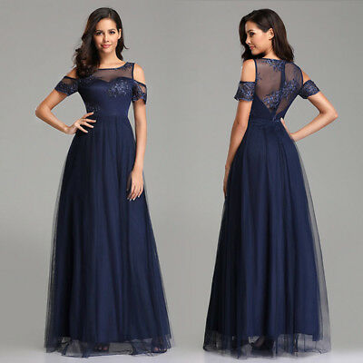 Ever-Pretty Women A-line Cold-Shoulder Evening Dresses Halloween Prom Gown 07414