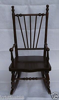 Antique Childs Wooden Rocking Chair A.m.hoover Dec 25 1907 Freeport, Illinois