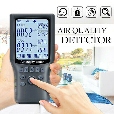 Portable Air Quality Monitor Formaldehyde HCHO TVOC Digital Detector Humidity