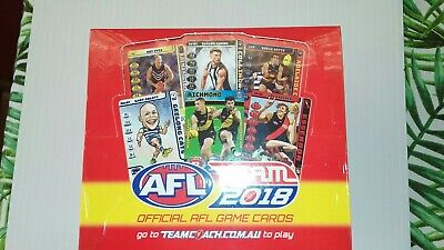 2018 AFL Team Trading Cards . Sealed Box Of 36 Packs