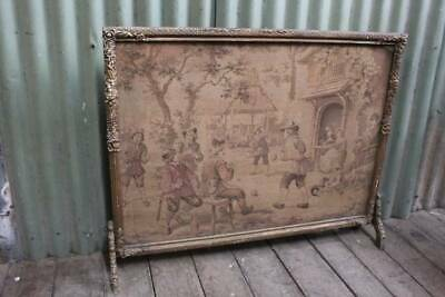 A Vintage French Fire Screen with Tapestry