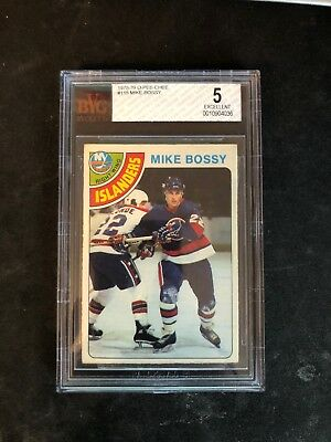 1978 OPC O-Pee-Chee Mike Bossy Rookie RC # 115 EX  BGS 5