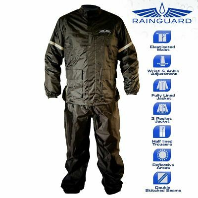 Rainguard Two Piece Waterproof Motorcycle Over Suit Extra Large