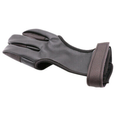 Archery Protect Glove Three-Finger Hand Guard for Bow String Shooting Hunt rfc