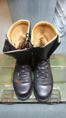 Volkl Austrian Black Combat Boot Fully Leather Lined