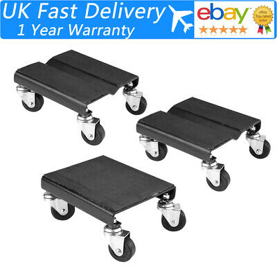 3Pcs Tire Car Wheel Dolly Skate Repair Snowmobile Moving Jack 1500lbs 680kg