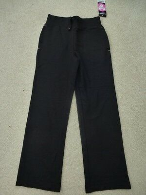 NEW  Pair of GEORGE BLACK Trousers 9-10yrs BNWT Jogging Yoga Sports School