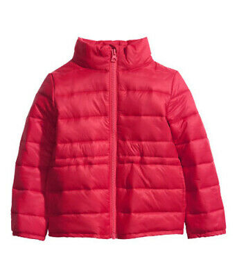 New H&M RED Padded JACKET Coat age 7-8yrs BNWT Lightweight Fab 4 Next SPRING