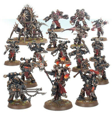 Warhammer 40k Shadowspear Chaos Space Marines Daemonkin 16 miniatures & Codex