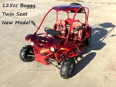 125CC SAHARA Offroad Dune Buggy Atv Quad Twin Seat Right-hand Drive 3FD With Rev