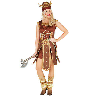 Vestiti Halloween Roma.Costume Donna Vichinga Guerriera Nordica Adulti Vestito Carnevale