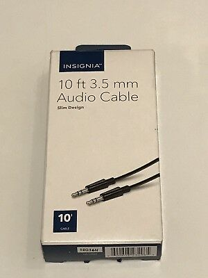 Insignia- 10' 3.5mm Audio Cable - Black EUC!!