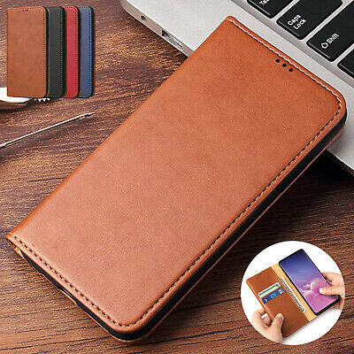 For Samsung Galaxy S10+ Plus S10e Case Magnetic Leather Flip Card Pocket Cover