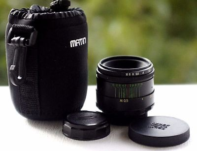 VERY GOOD!!! HELIOS-44-2 58mm F2 SLR LENS SCREW M42 + BAG PENTAX/ZENIT CANON