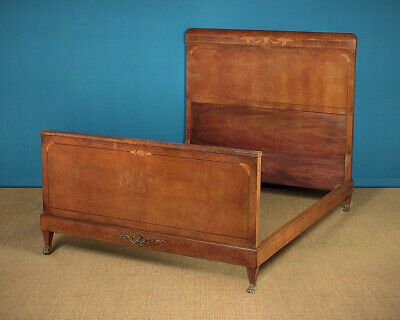 Antique Late 19th.c. French Empire Style Double Bed c.1890.